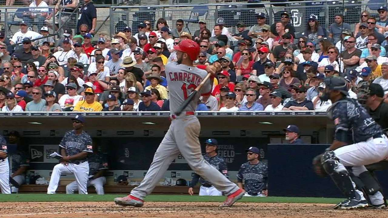 Gyorko's near-cycle, 3-run 8th key Cards' win