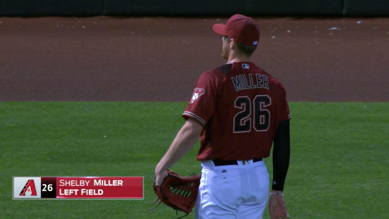 Miller plays left field