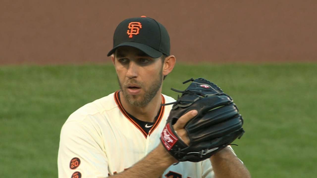 Bumgarner strikes out nine