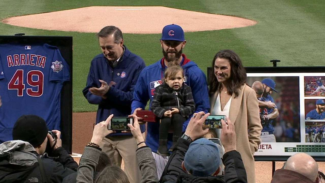 Arrieta honored for no-hitter