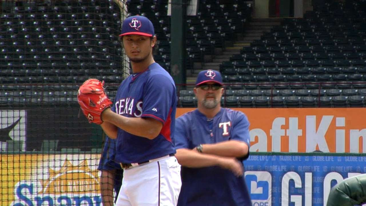 Darvish faces live hitters