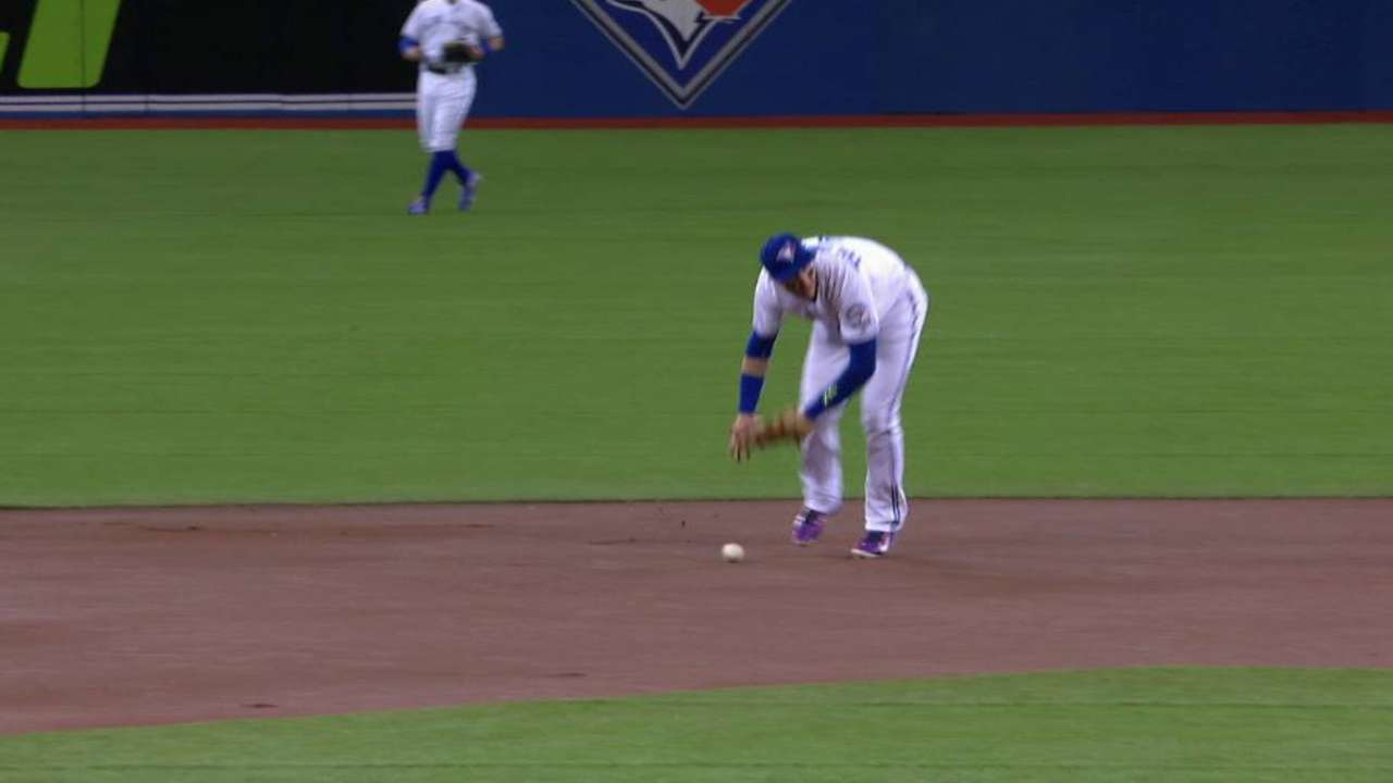 Tulo's error marks end of impressive streak