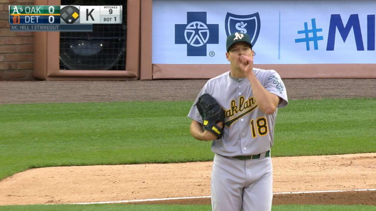 King of the Hill: Lefty leads A's past Tigers