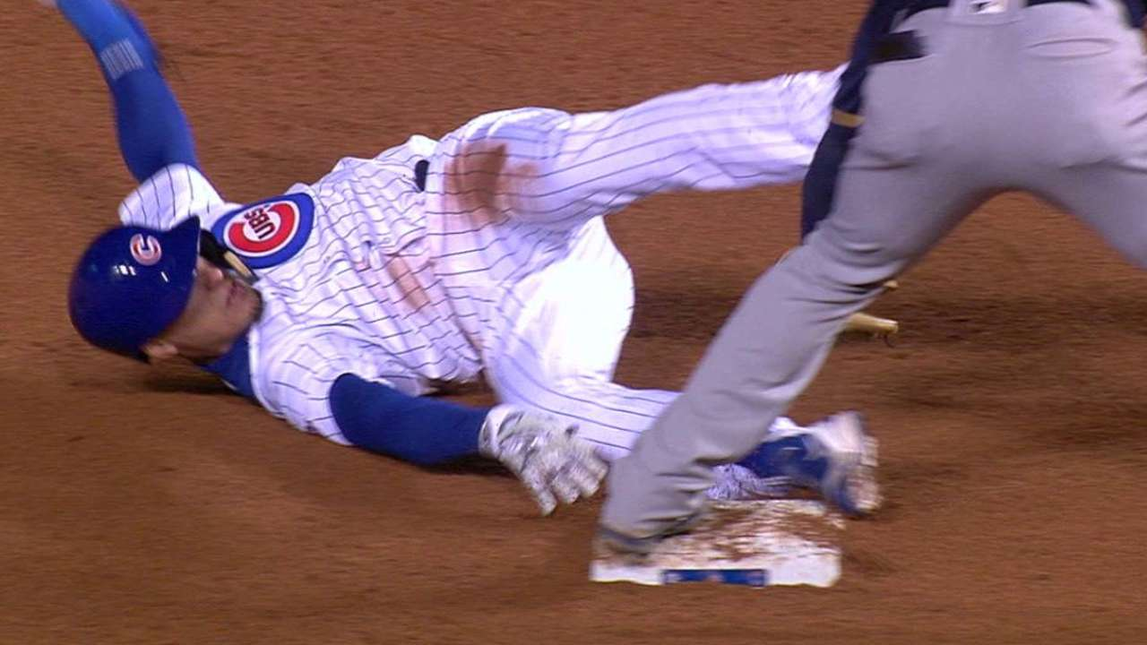 Baez fine with part-time role for Cubs