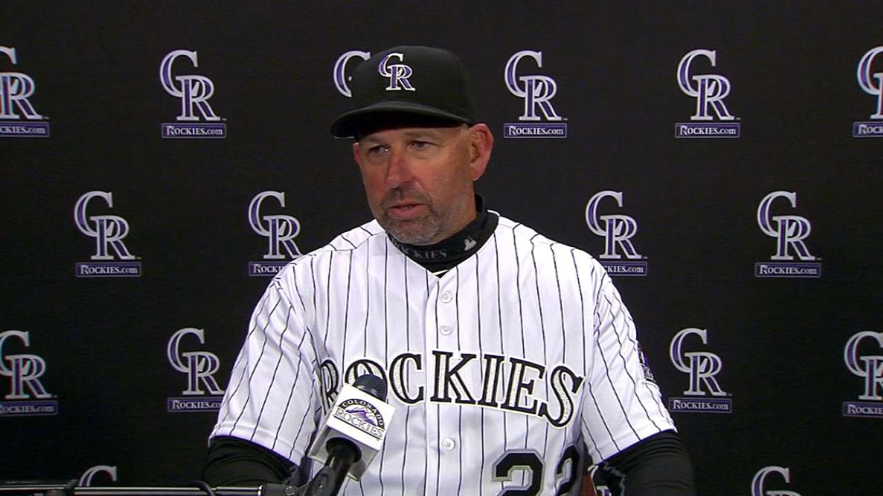 Weiss on Rockies' 9-4 loss