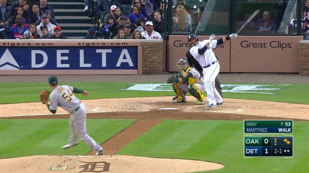 Martinez's three-run blast