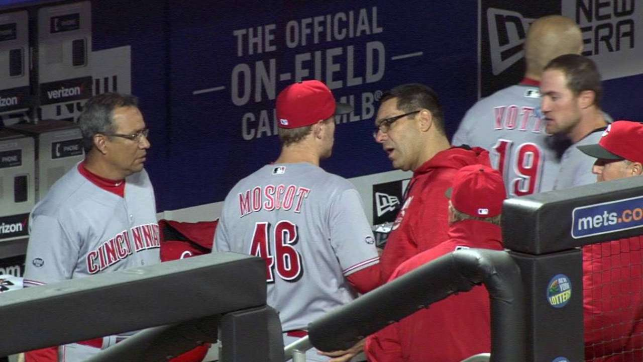 Moscot to return Tuesday; Reds adjust rotation