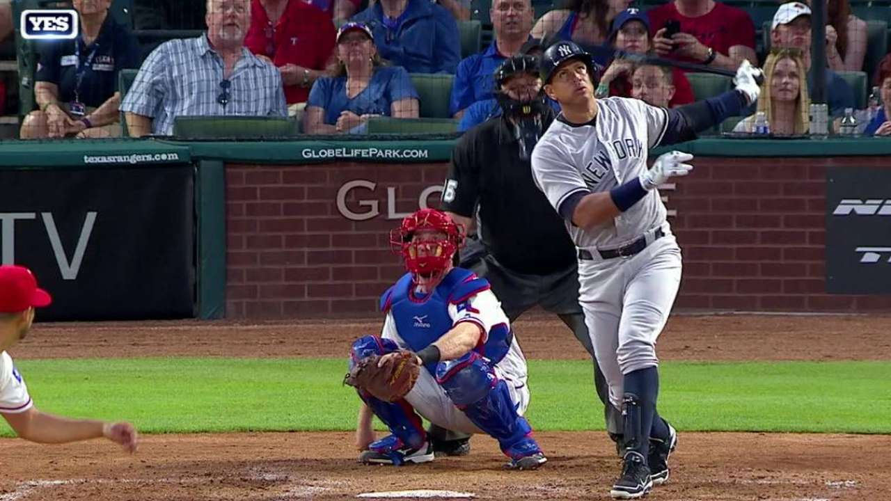 A-Rod gets two milestones with one swing