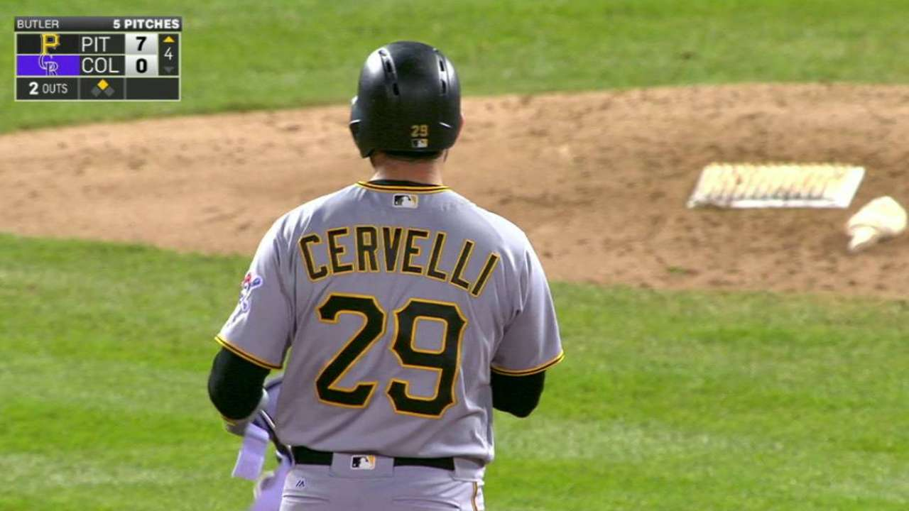 Cervelli's two-run double