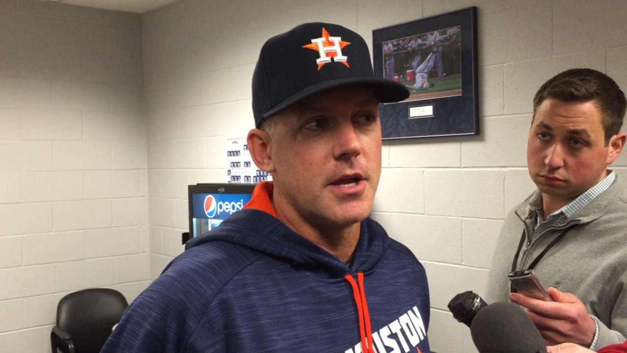 'Frustrated' Astros aiming to get back on track
