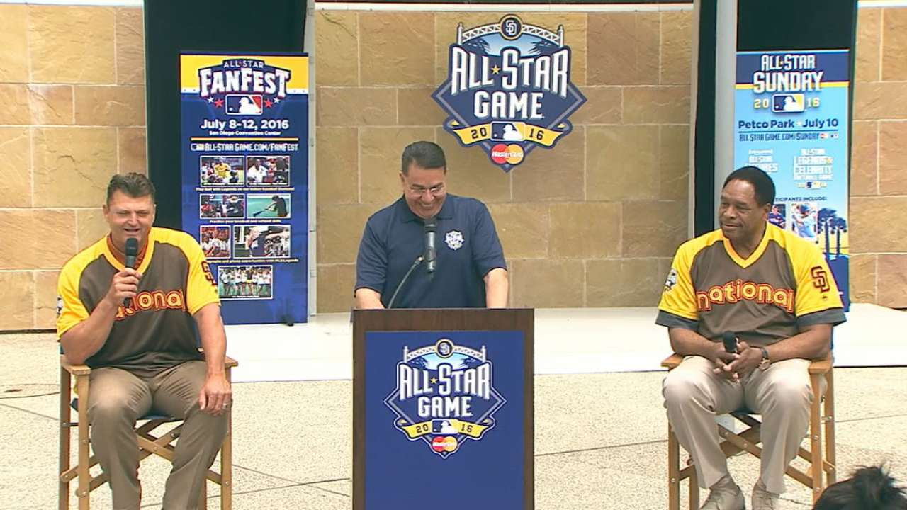 Hoffman, Winfield named ASG spokespeople