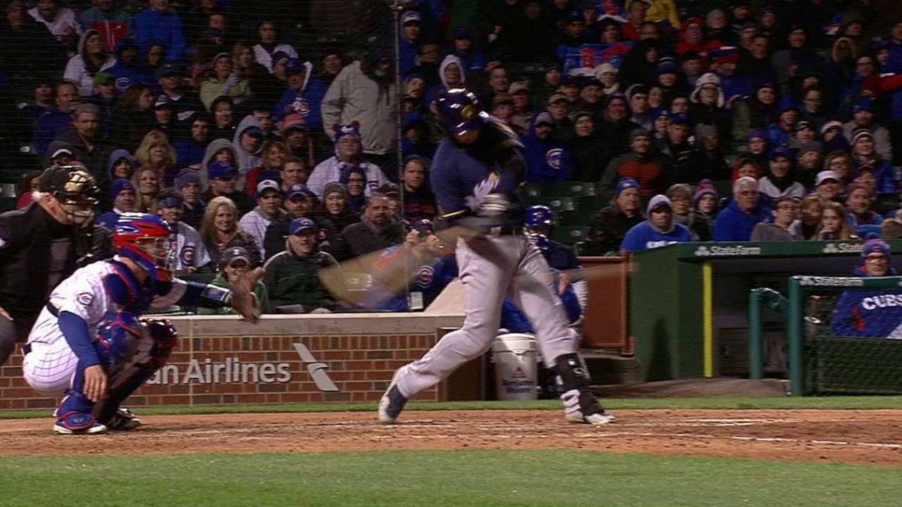 Brewers rest Braun, until PH two-run double