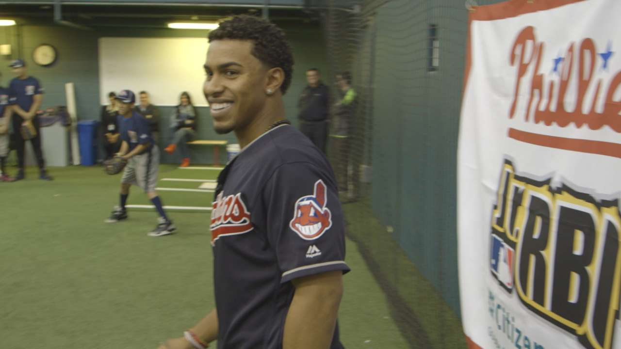 Lindor happy to give back with RBI program