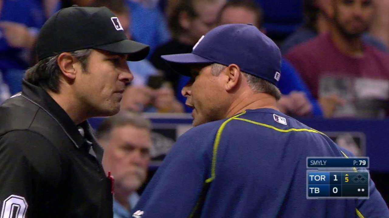 Cash ejected for first time this season