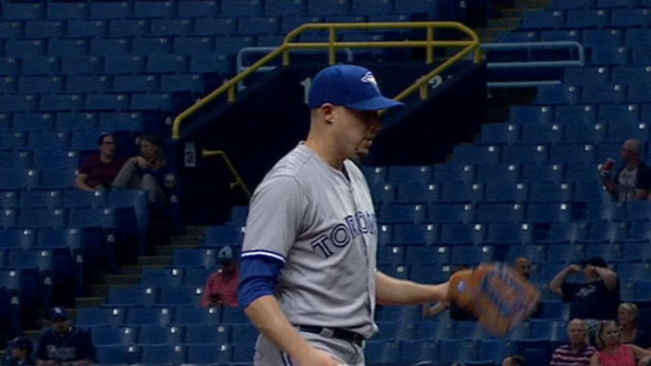 Jays hit 4 HRs to back Sanchez in win over Rays