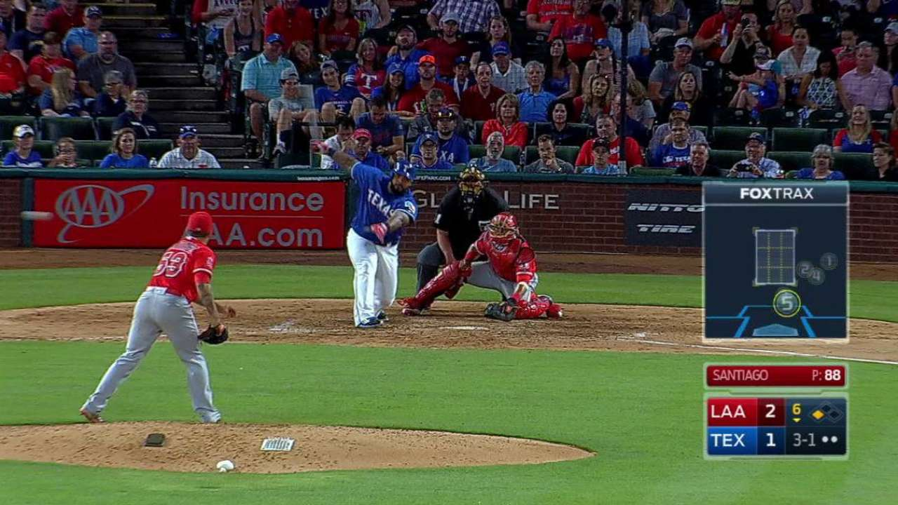 Rangers push past Angels with three-run sixth