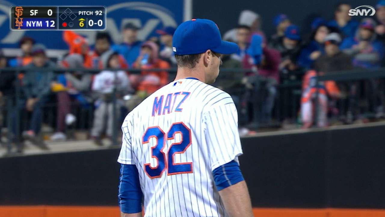 Matz tosses six scoreless