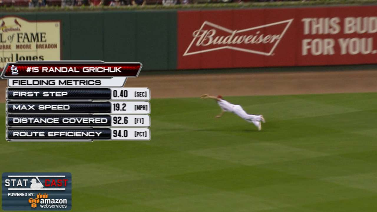 Statcast: Grichuk's diving grab
