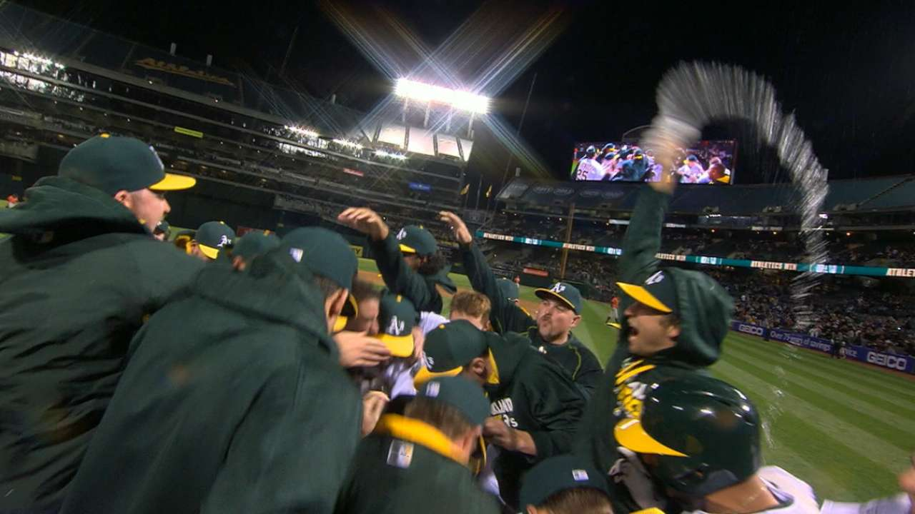 Yonder gone! A's stun Astros on walk-off blast