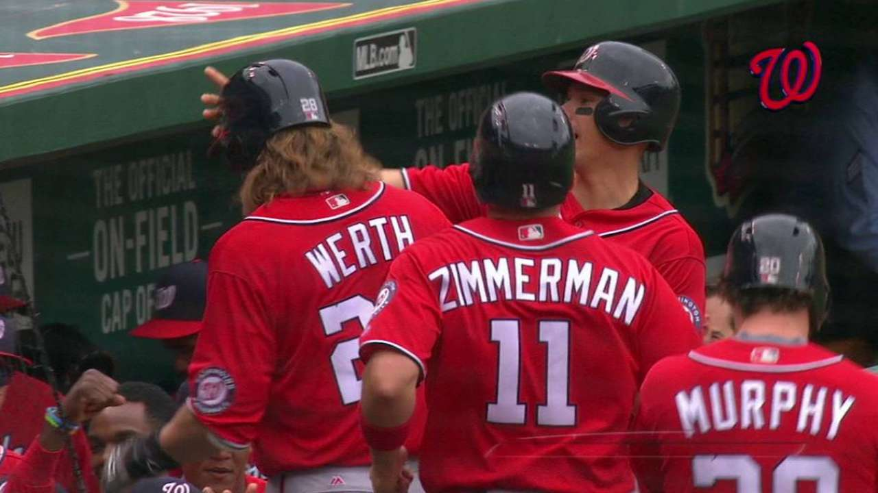 Werth's HR, Ross' start lead Nats past Cards