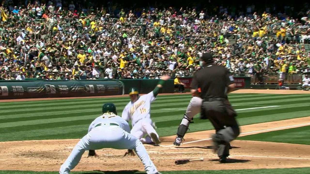 A's blank Astros with Jesse's gem, Burns' bat