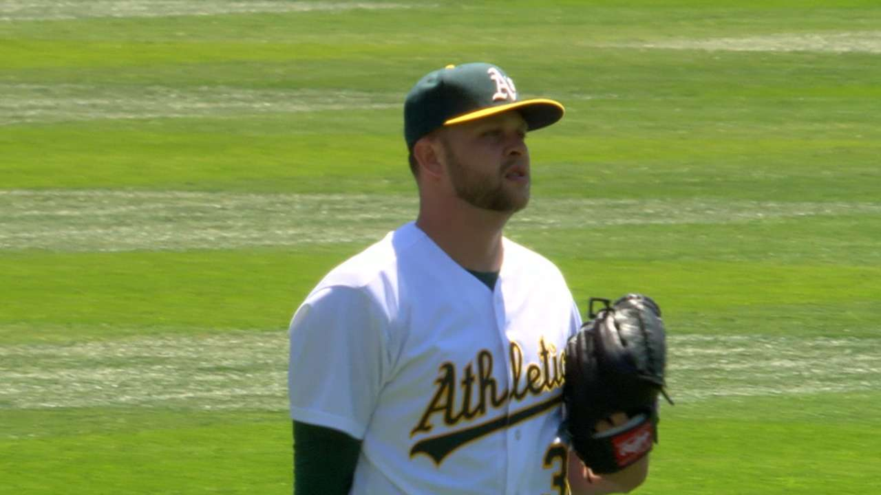 A's option Hahn, call up Wendelken