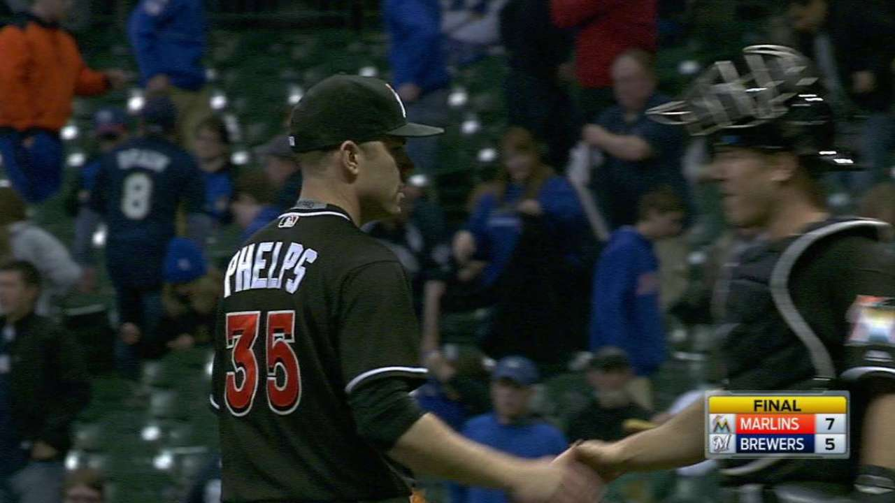 Phelps notches the save