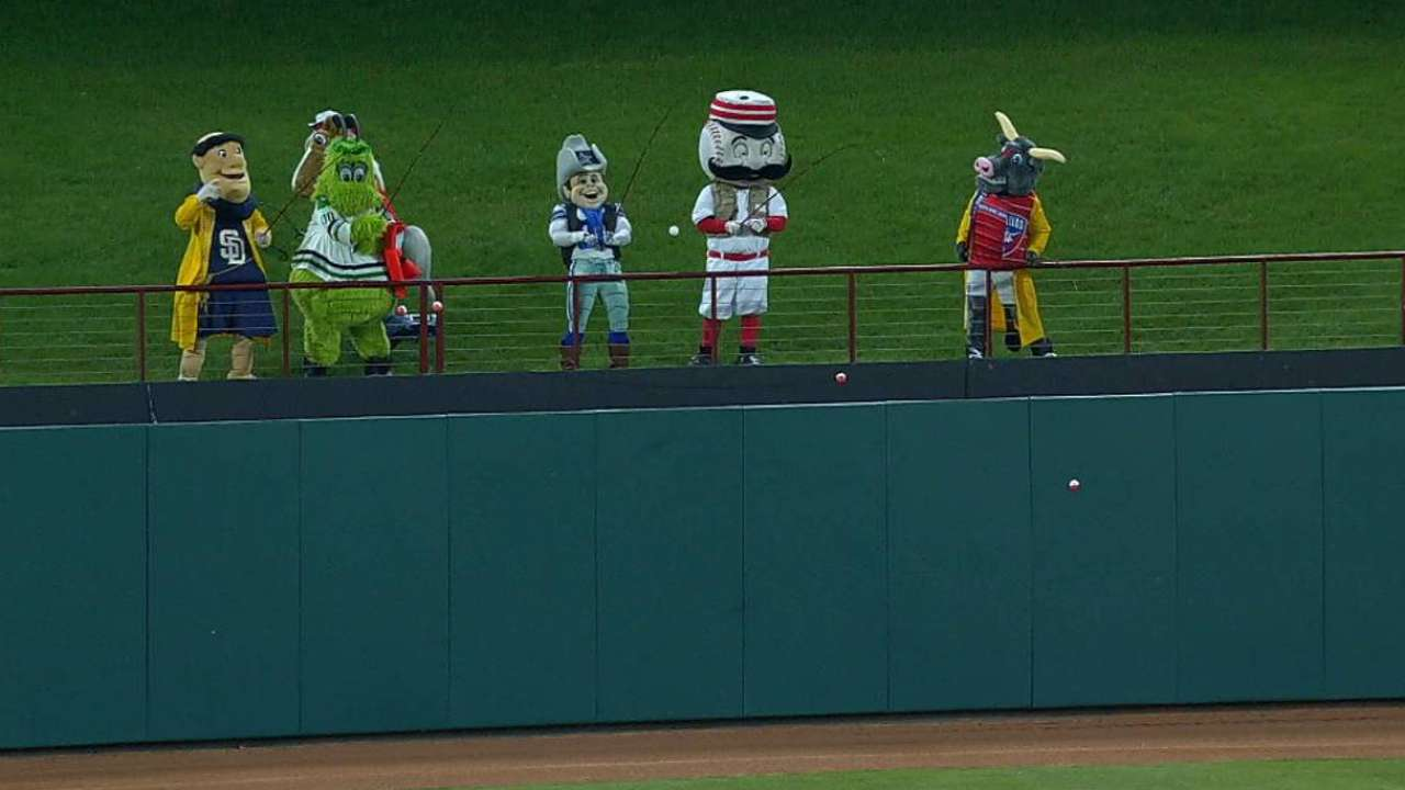 Mascots reel in Trout