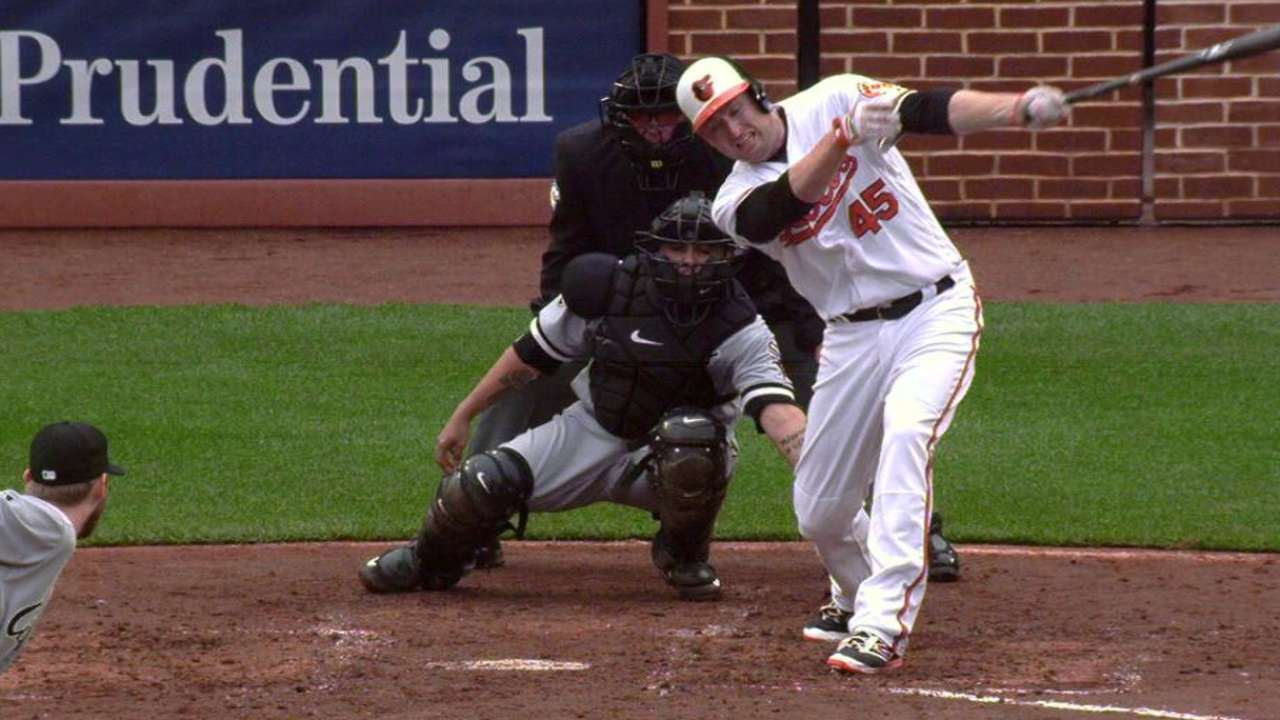 Trumbo strikes out on HBP