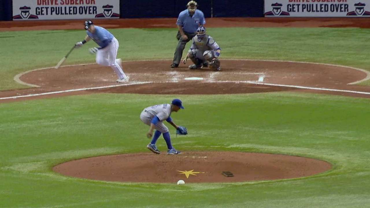 Stroman flashes some leather