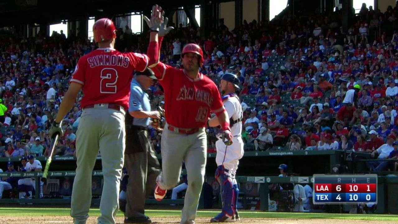 Calhoun Helps Angels Stop Rangers' 4-Game Winning String