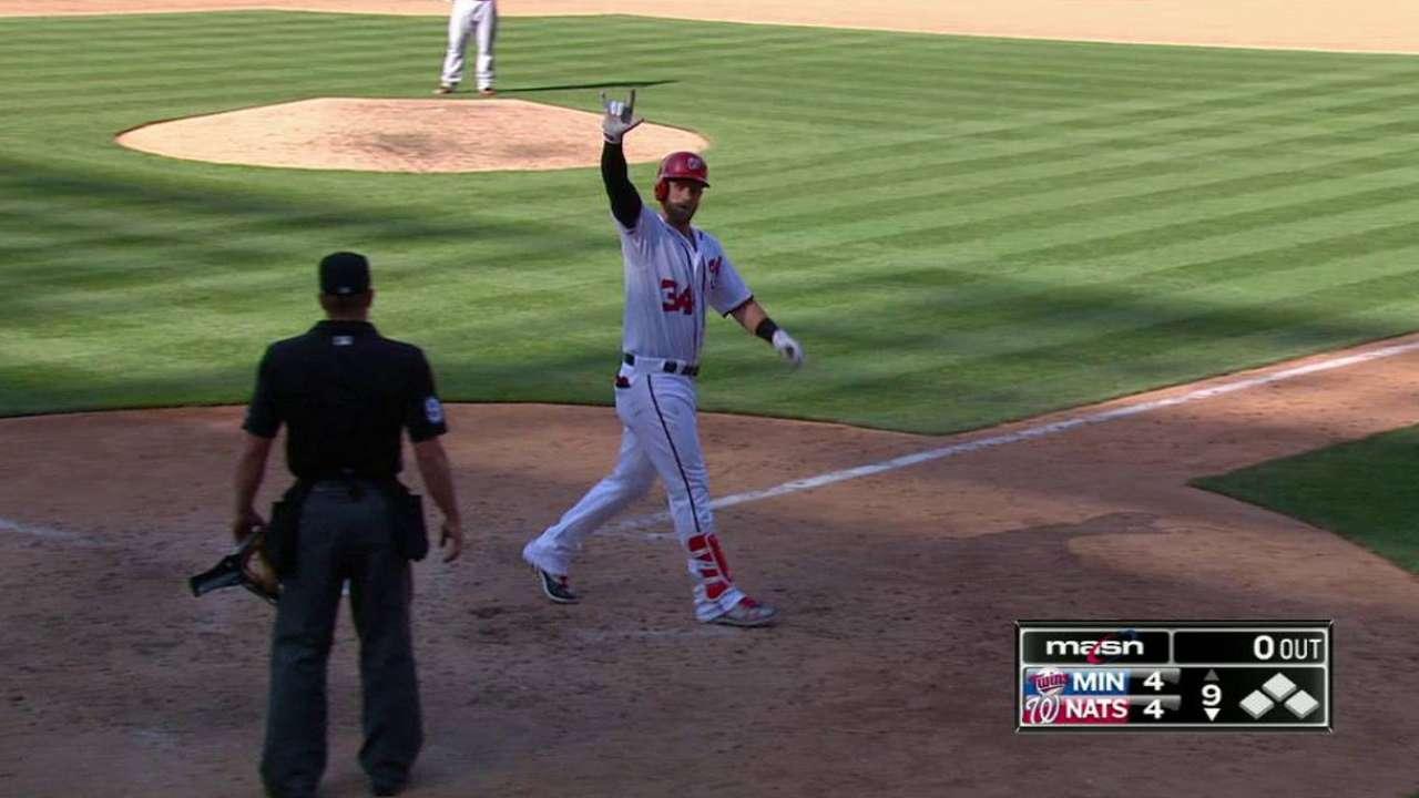 Harper's game-tying solo homer