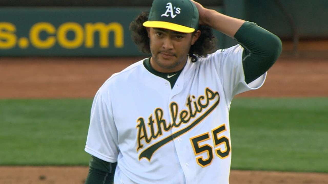 Manaea brings moxie to mound in MLB debut