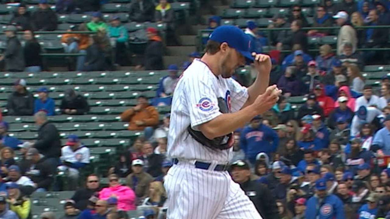 Lackey rebounds with 8 strong innings