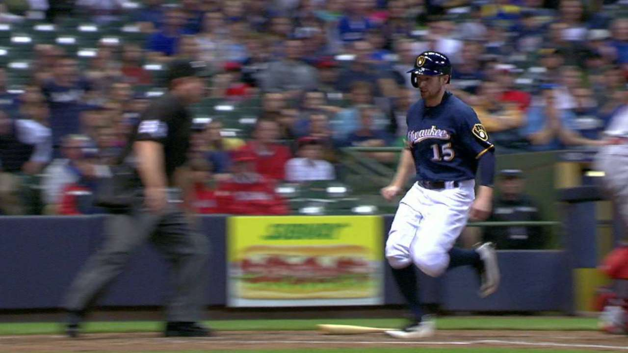 Four-run rallies power Brewers over Angels