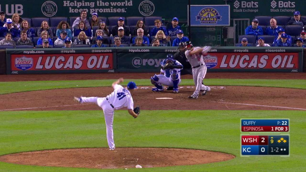 Duffy strikes out Espinosa