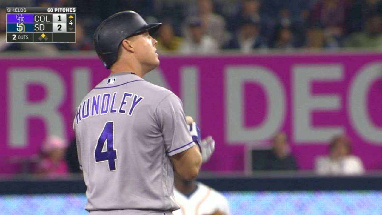 Hundley sidelined with oblique injury