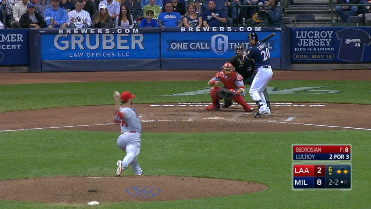Bedrosian strikes out five