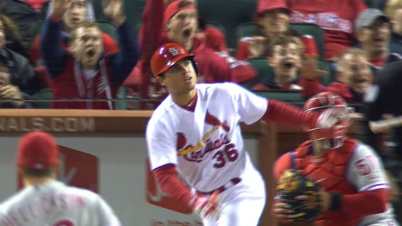 Cards crush five homers in rout