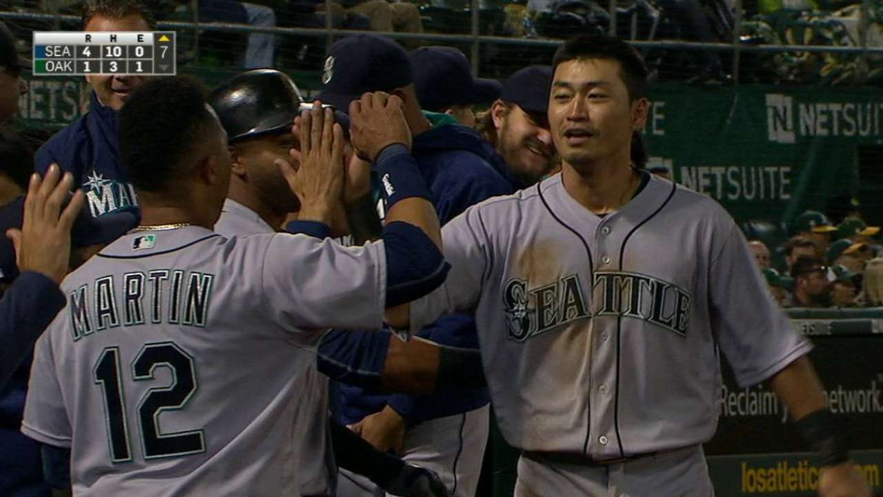 Aoki making impact despite struggles at plate