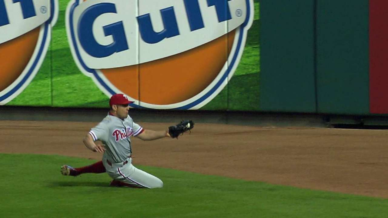 Bourjos' sliding catch