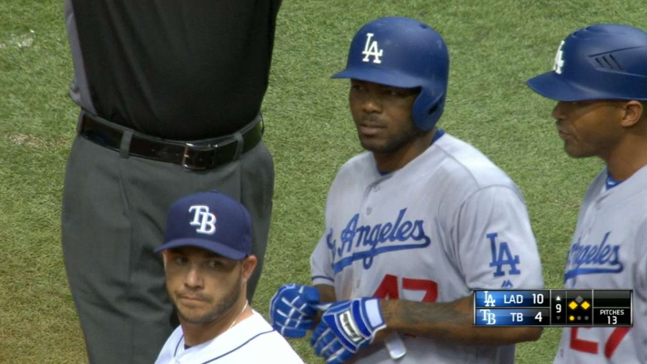 Kendrick's four-hit game