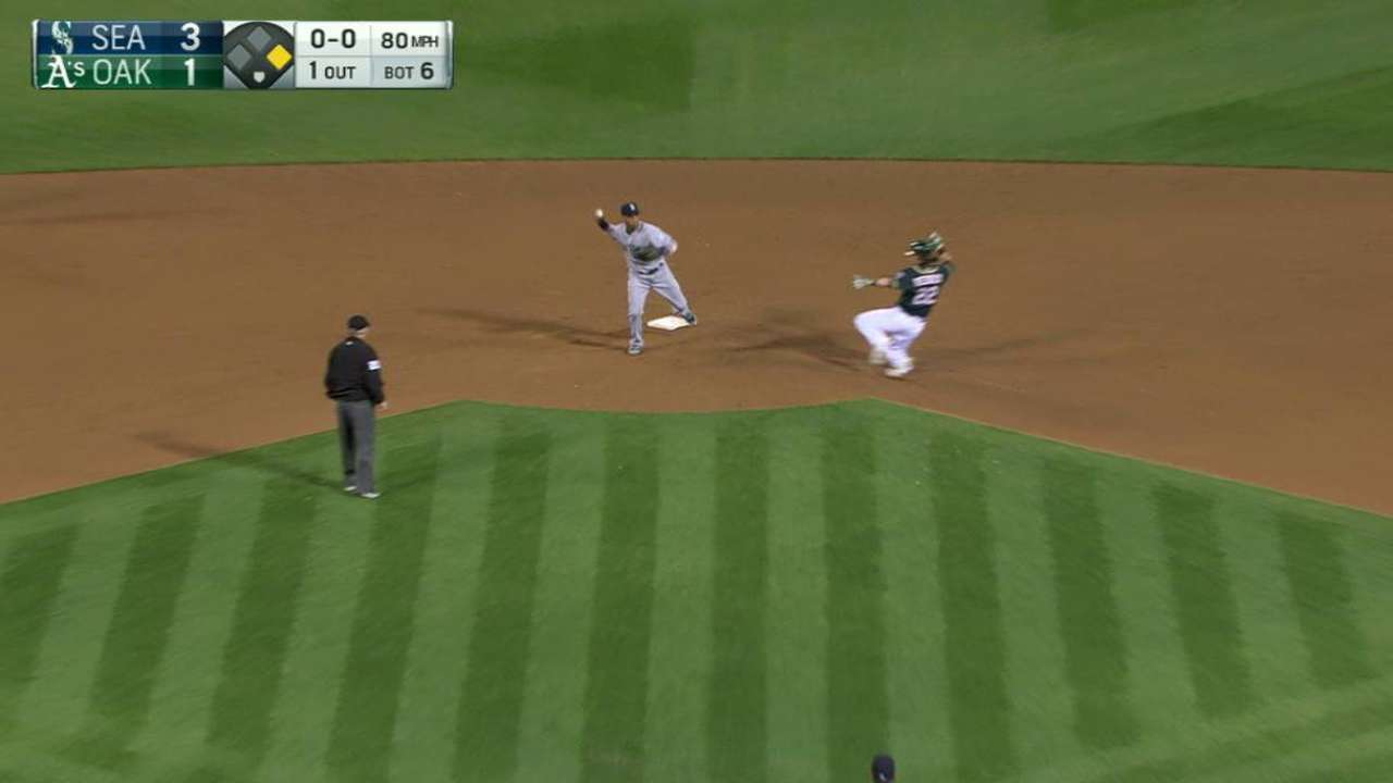 Mariners' nifty double play