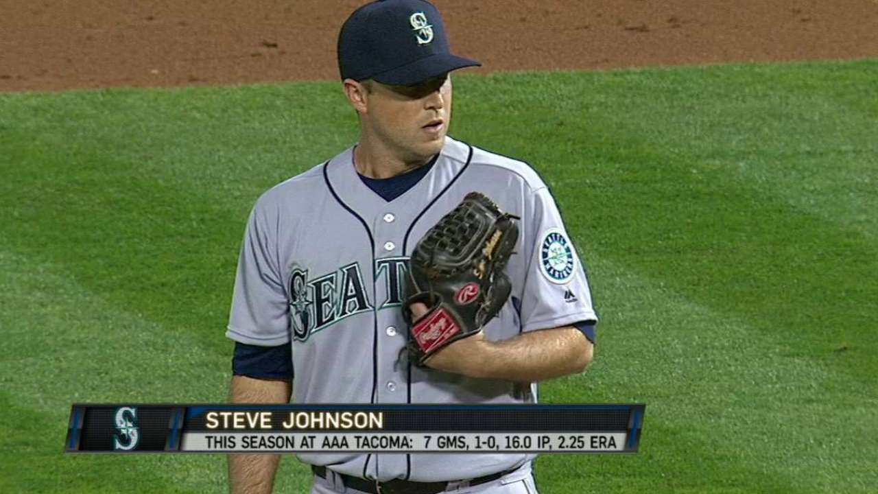 Johnson's Mariners debut