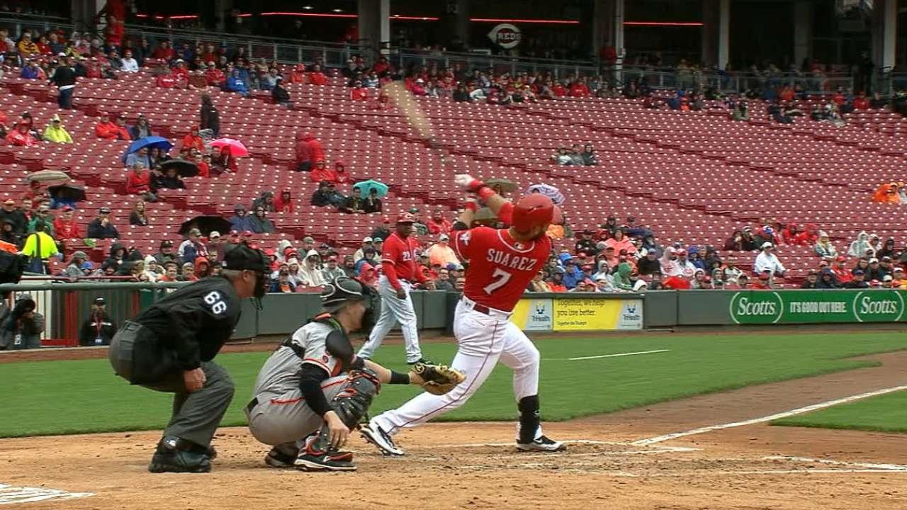 The Reds' five-run inning