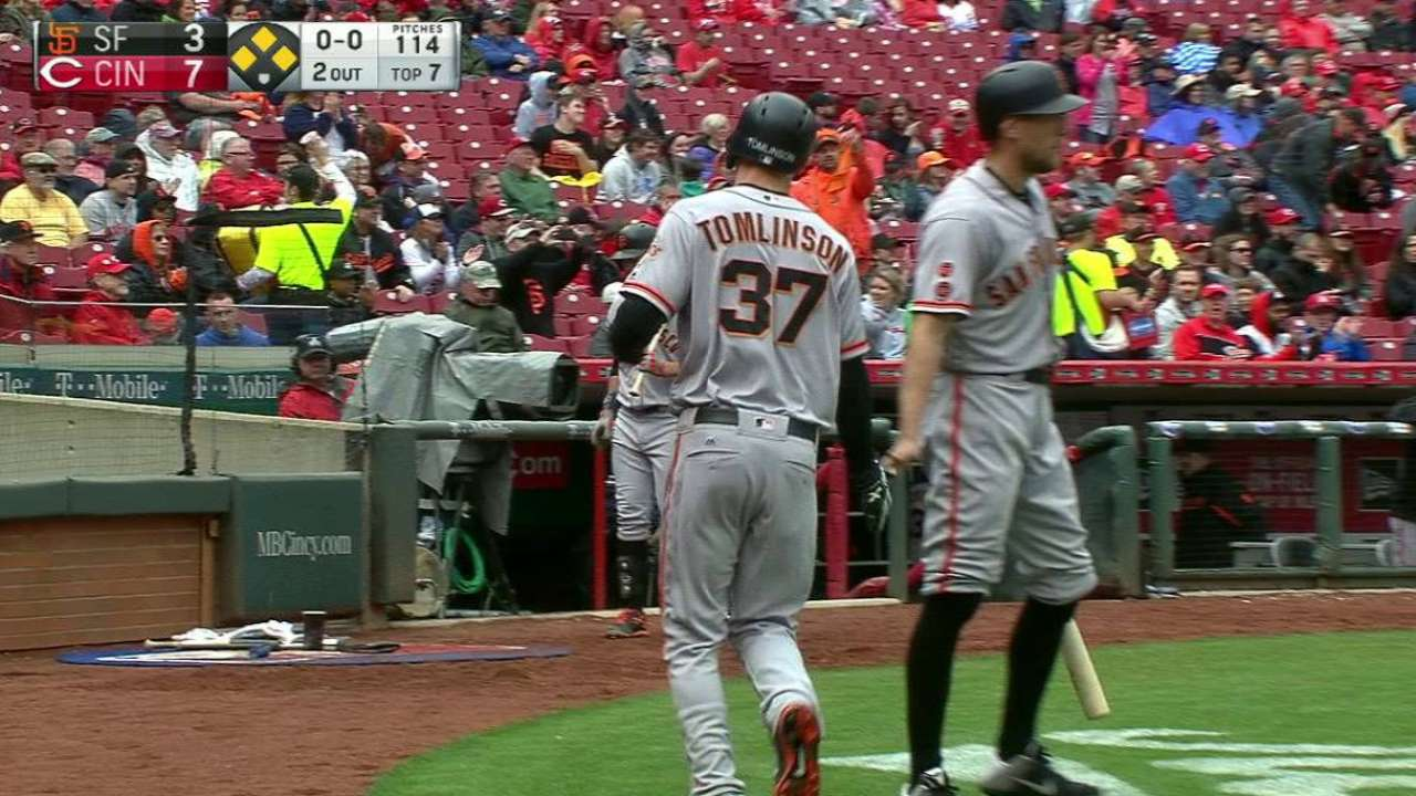 Posey's sac fly in the 7th