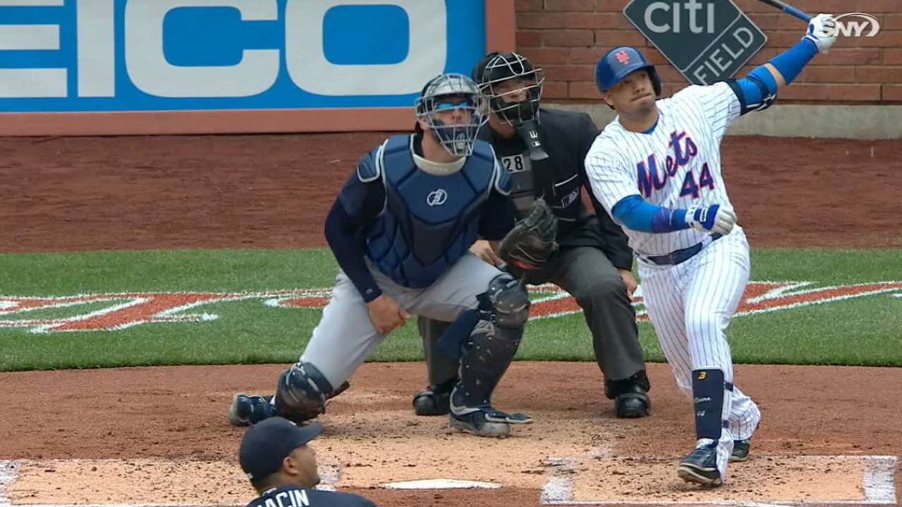 Mets' four home runs