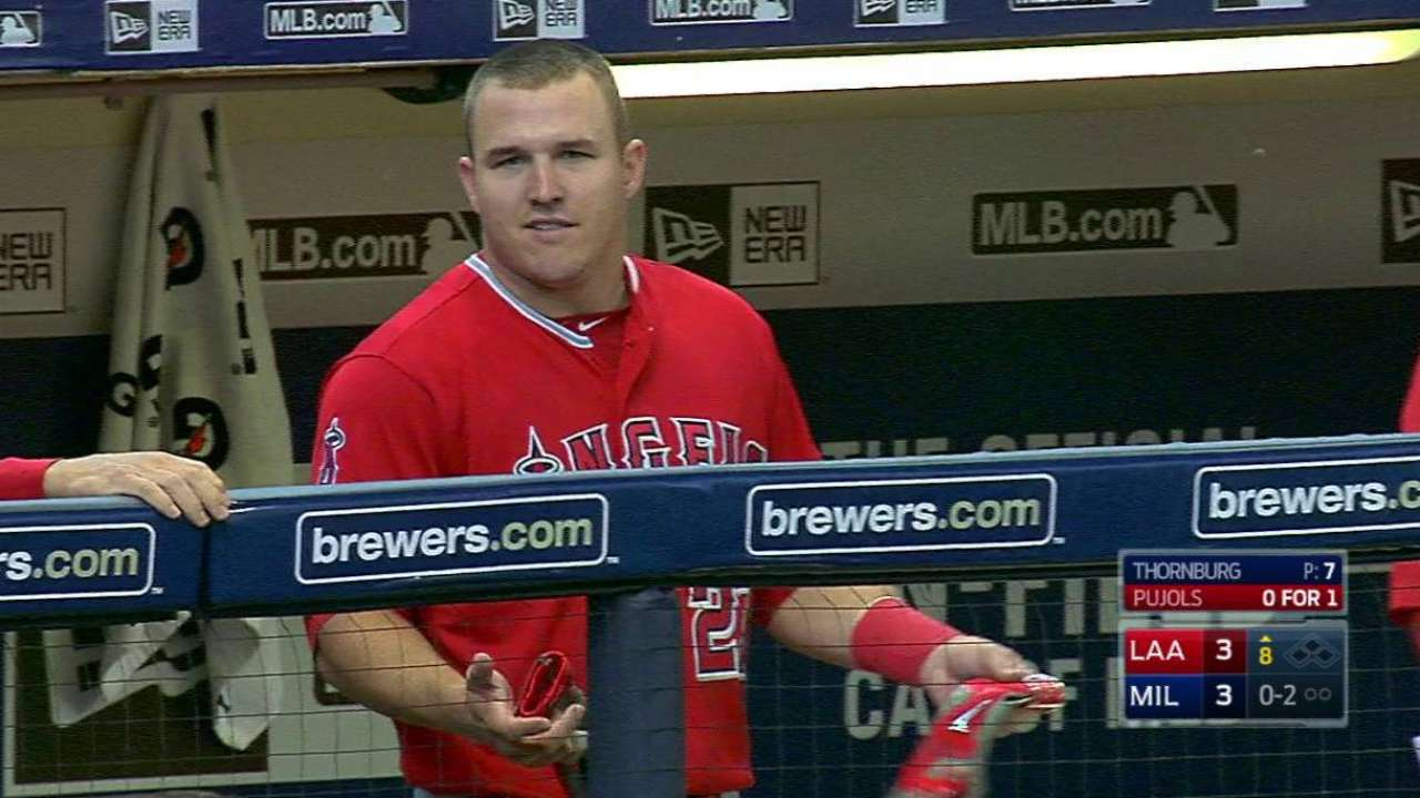 Trout's game-tying solo homer
