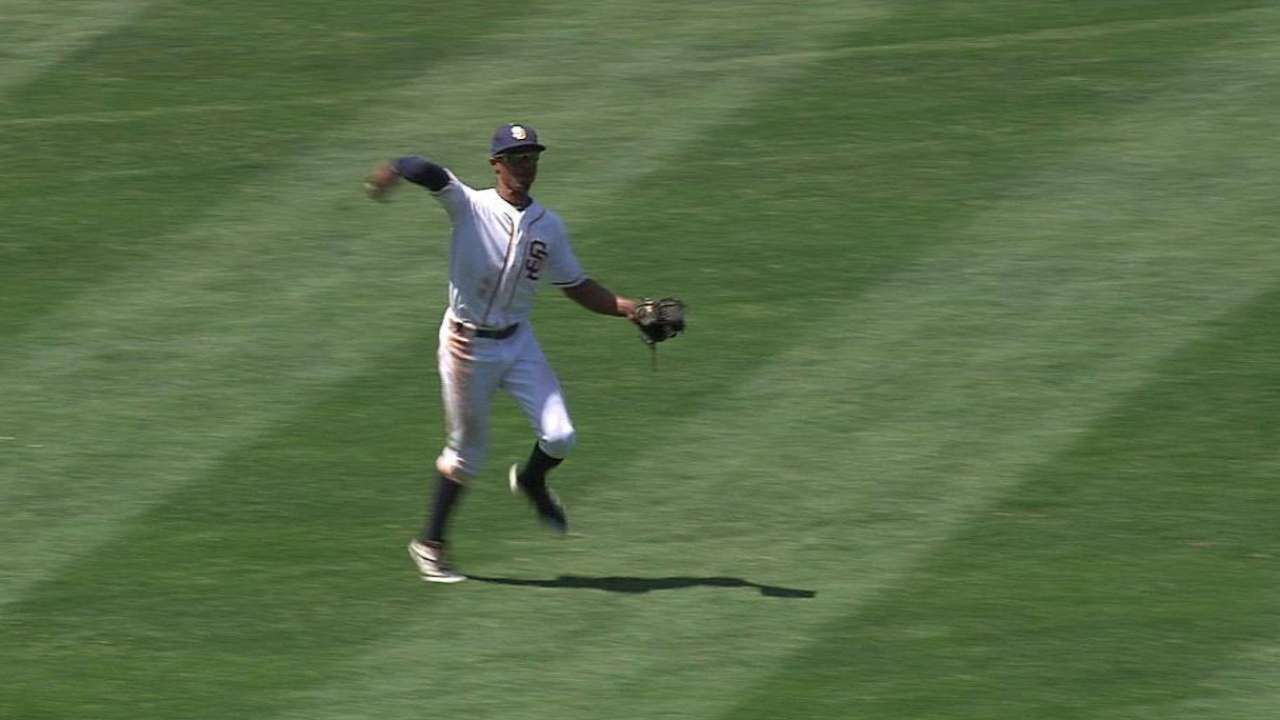 Upton Jr. starts a double play