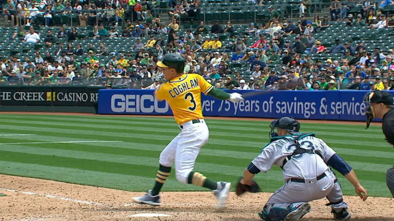 Athletics' six-run 5th
